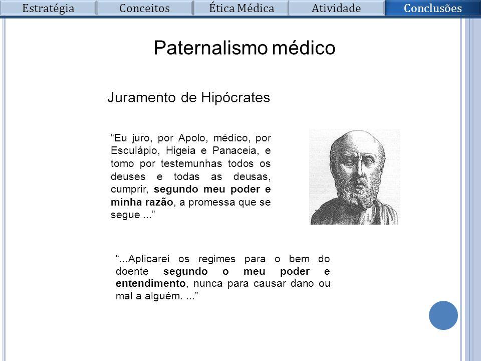 Paternalismo médico Juramento de Hipócrates Estratégia Conceitos