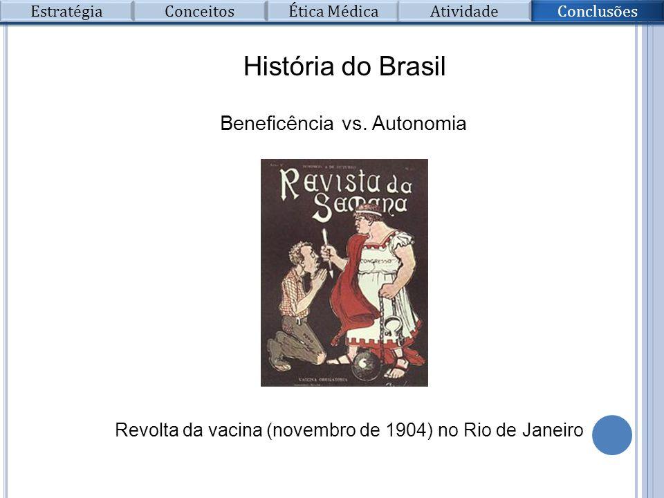 História do Brasil Beneficência vs. Autonomia