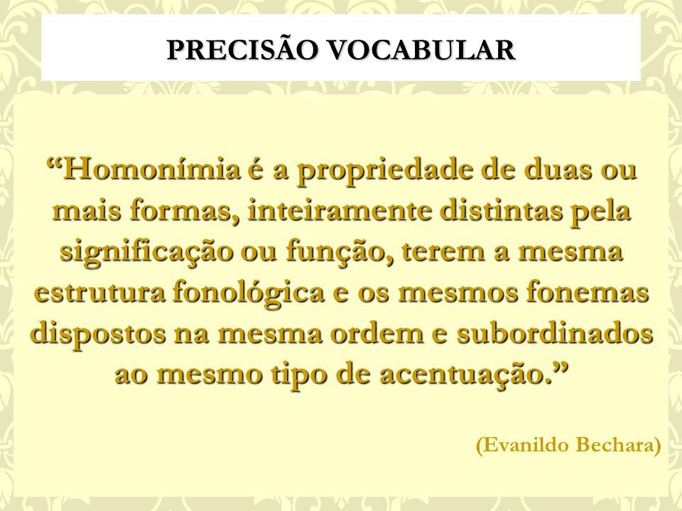 PRECISÃO VOCABULAR