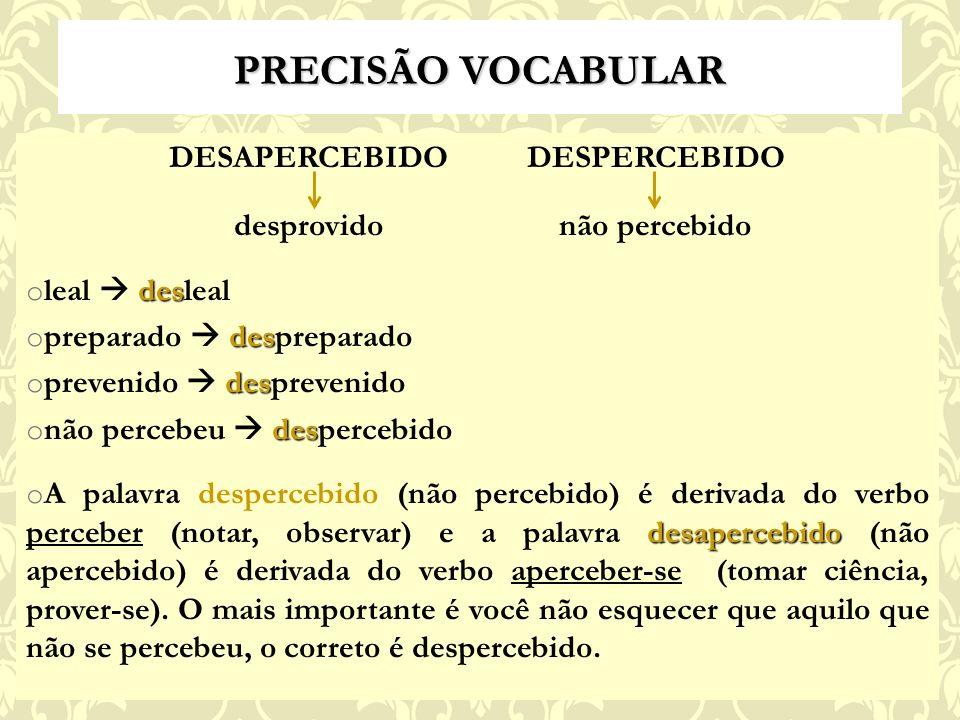 DESAPERCEBIDO DESPERCEBIDO
