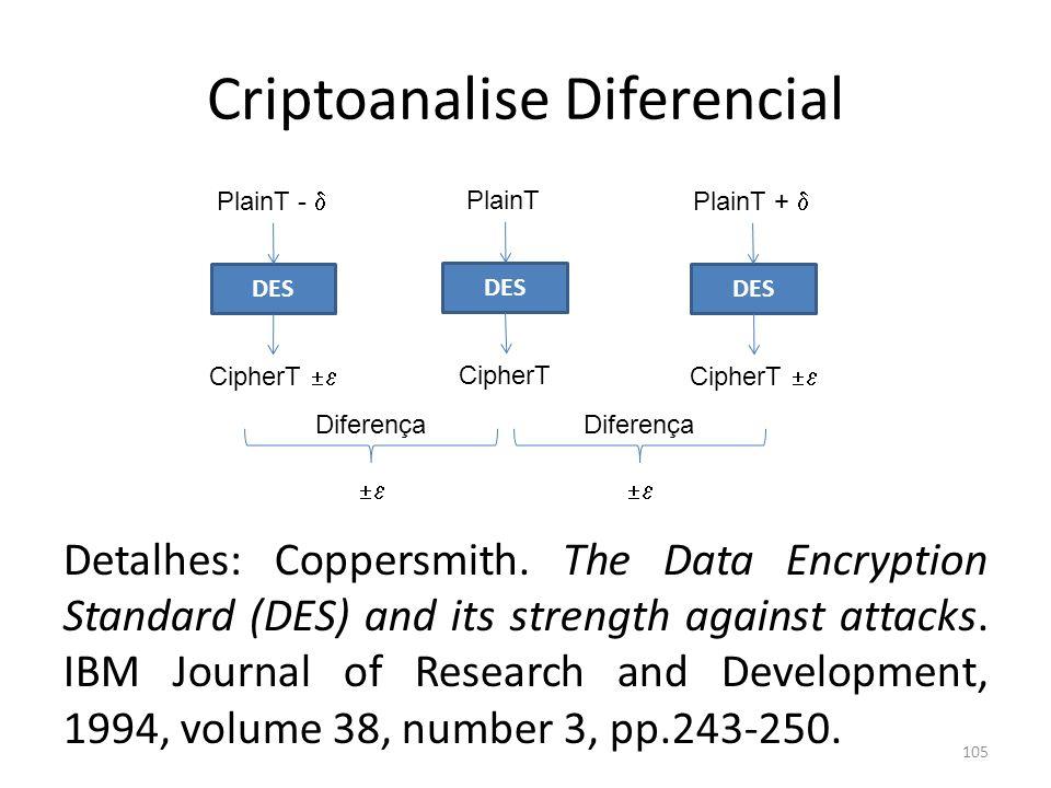 Criptoanalise Diferencial