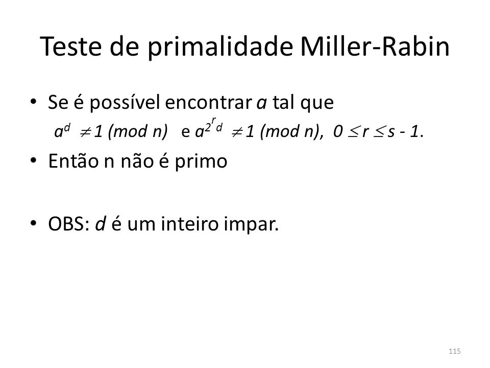 Teste de primalidade Miller-Rabin