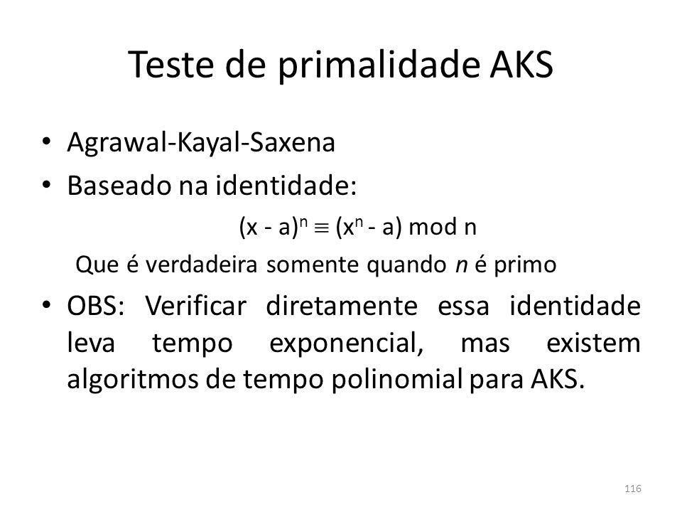 Teste de primalidade AKS