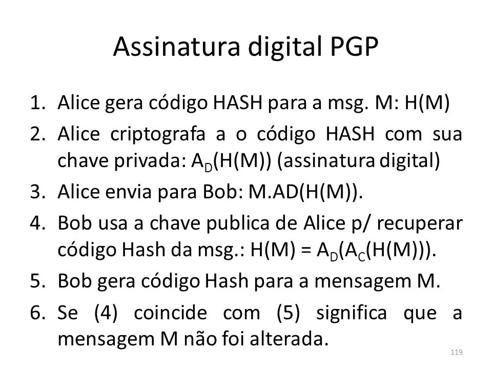 Assinatura digital PGP