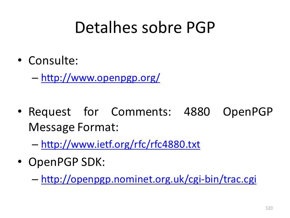 Detalhes sobre PGP Consulte: