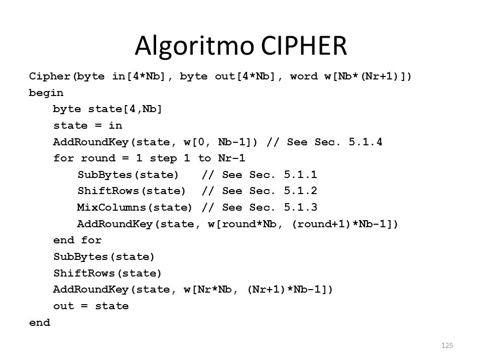 Algoritmo CIPHER