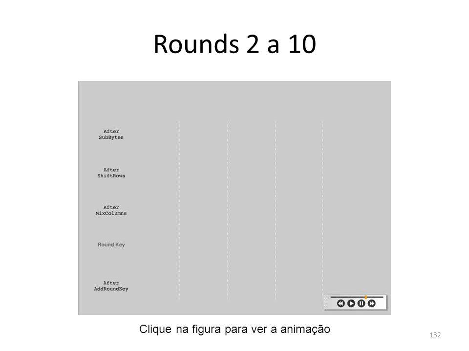Rounds 2 a 10 Clique na figura para ver a animação