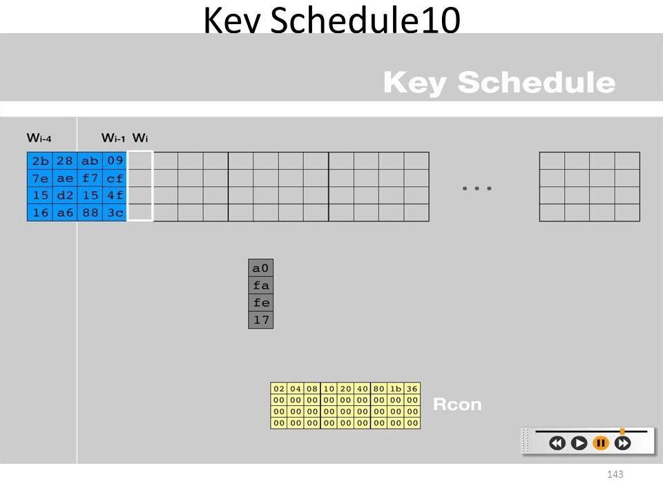 Key Schedule10