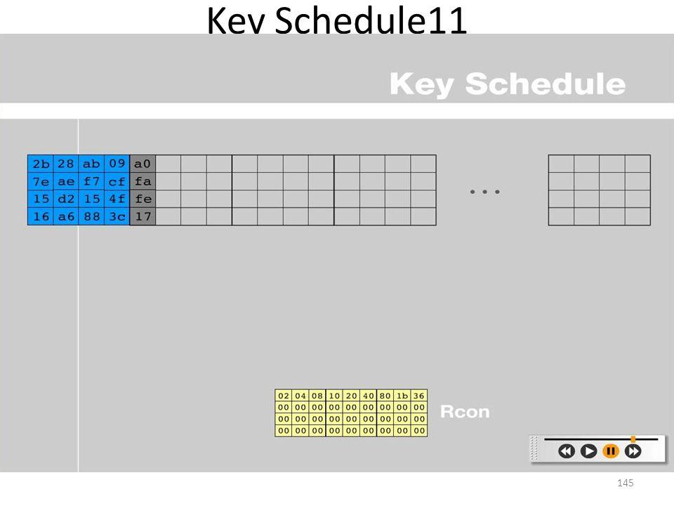 Key Schedule11