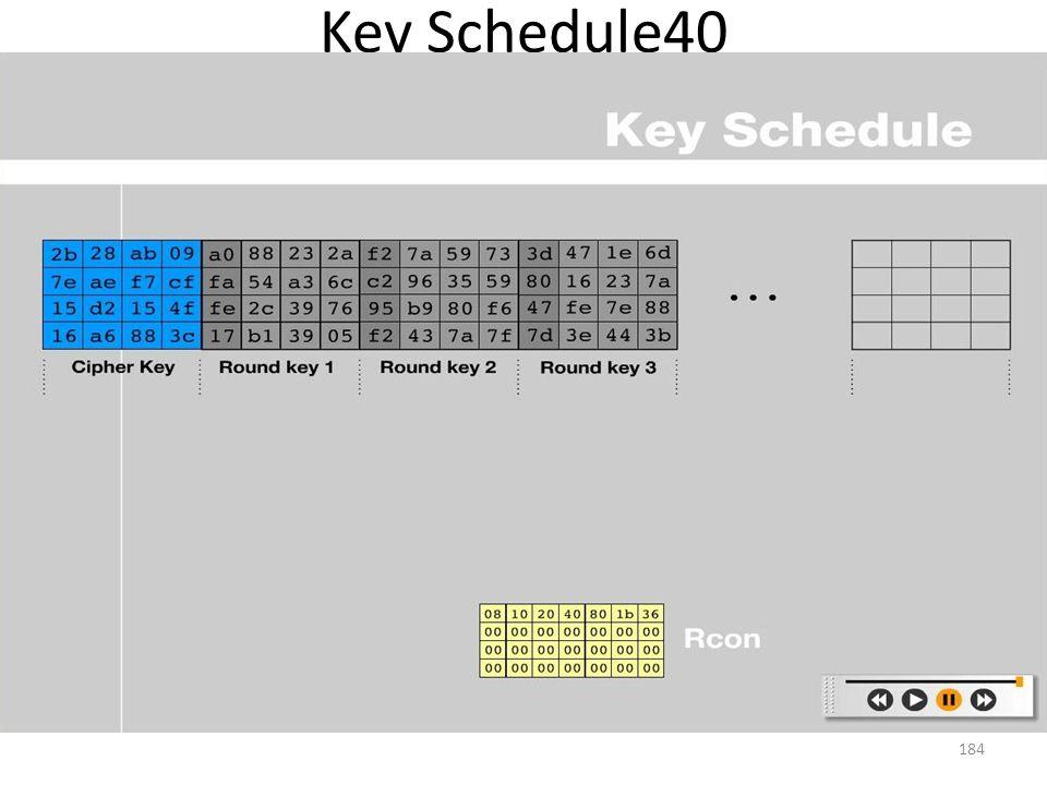 Key Schedule40