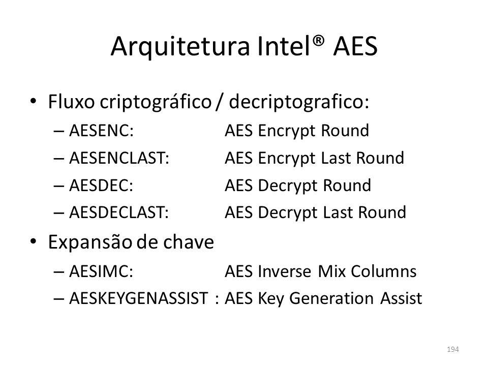 Arquitetura Intel® AES
