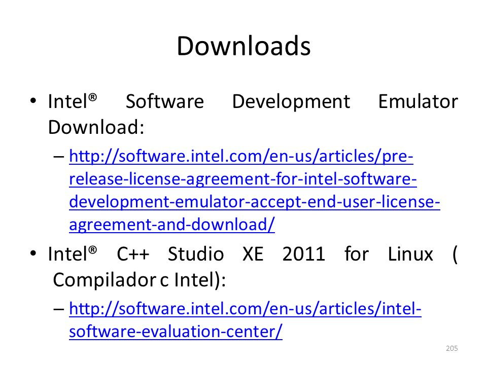 Downloads Intel® Software Development Emulator Download: