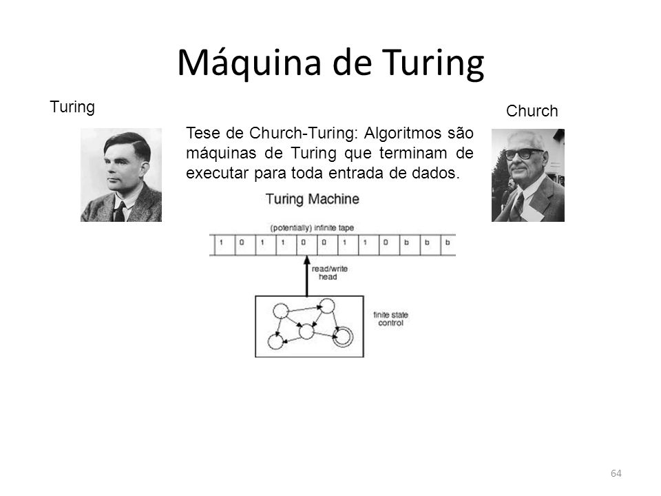 Máquina de Turing Turing Church