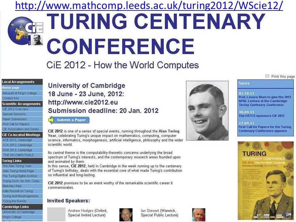 http://www.mathcomp.leeds.ac.uk/turing2012/WScie12/