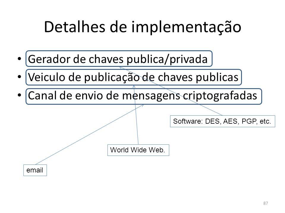 Detalhes de implementação