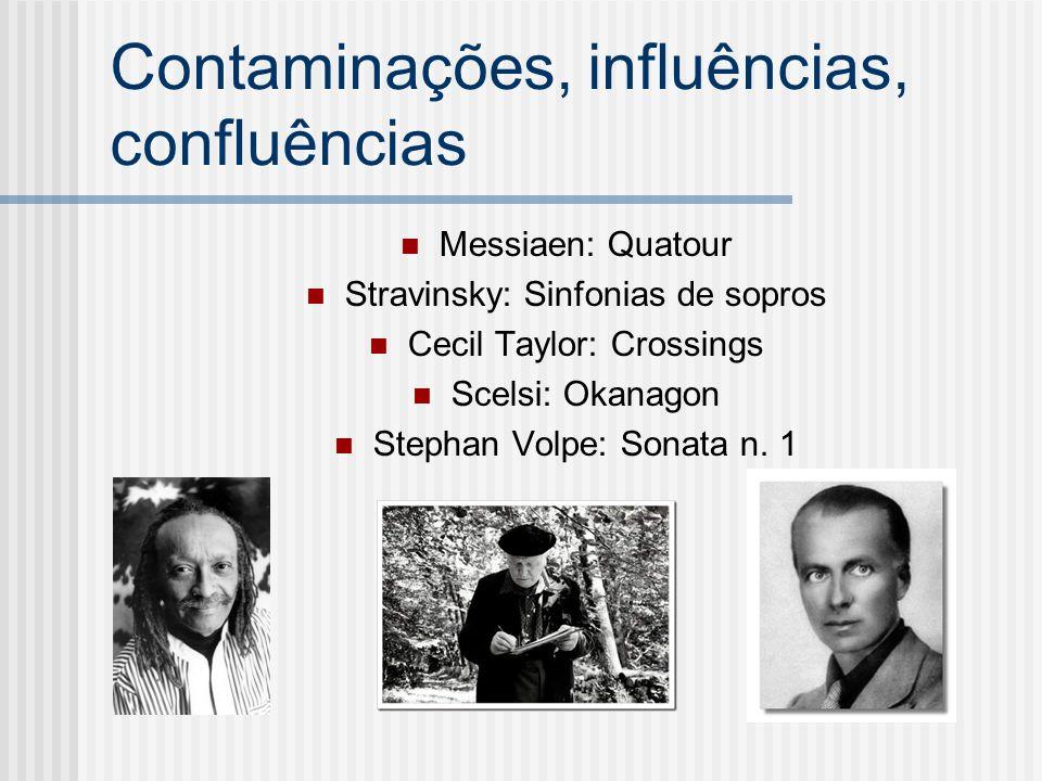 Contaminações, influências, confluências