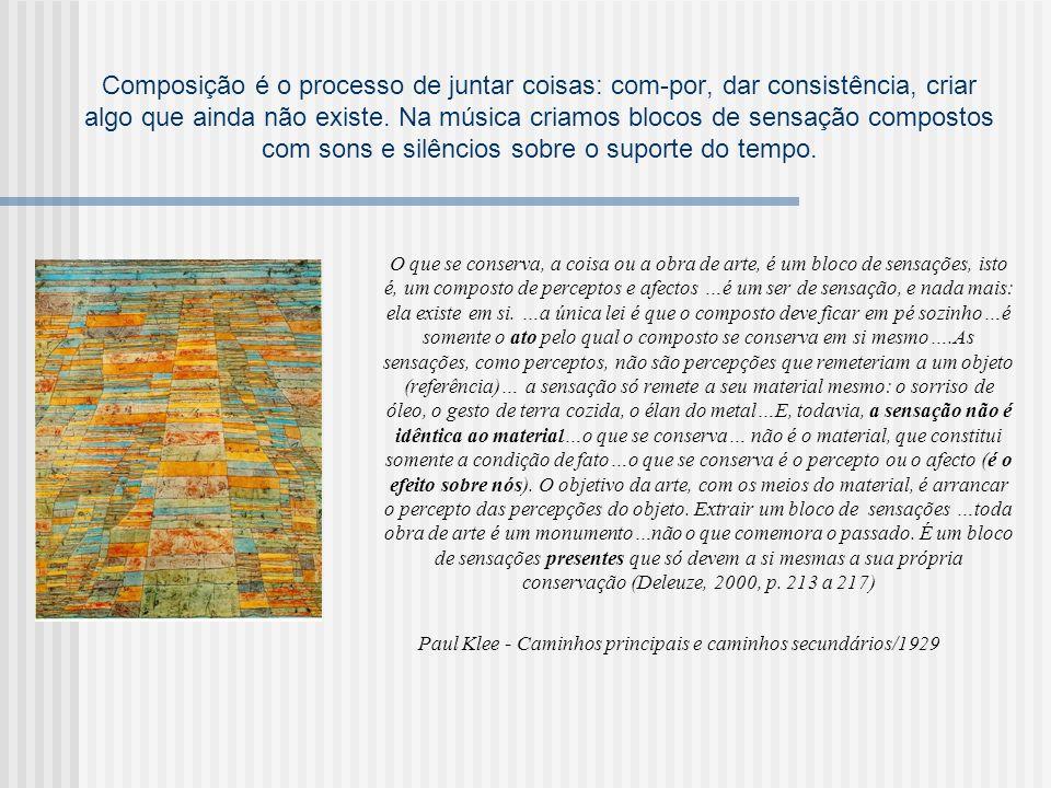 Paul Klee - Caminhos principais e caminhos secundários/1929