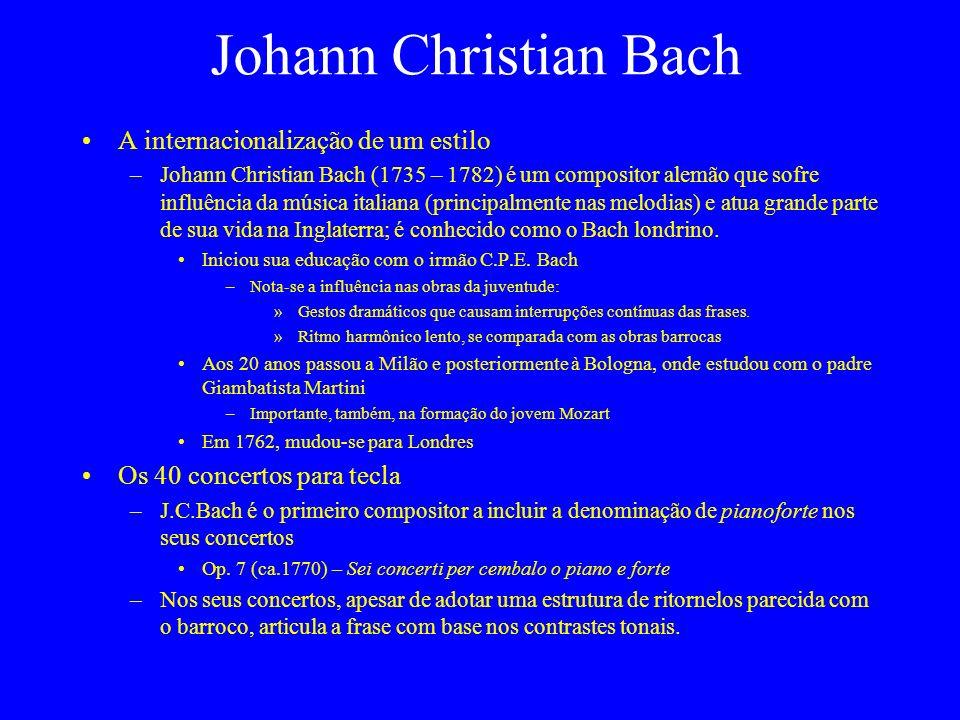 Johann Christian Bach A internacionalização de um estilo
