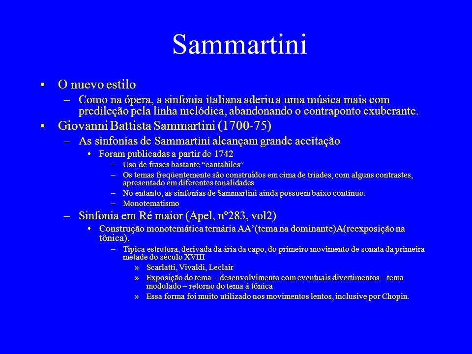 Sammartini O nuevo estilo Giovanni Battista Sammartini (1700-75)
