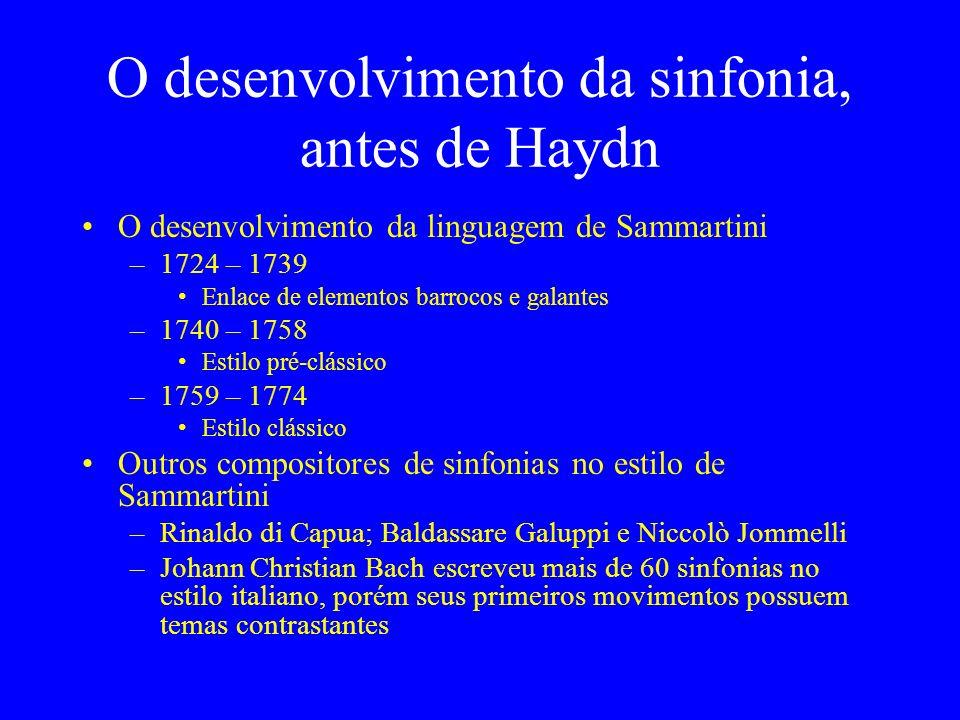 O desenvolvimento da sinfonia, antes de Haydn