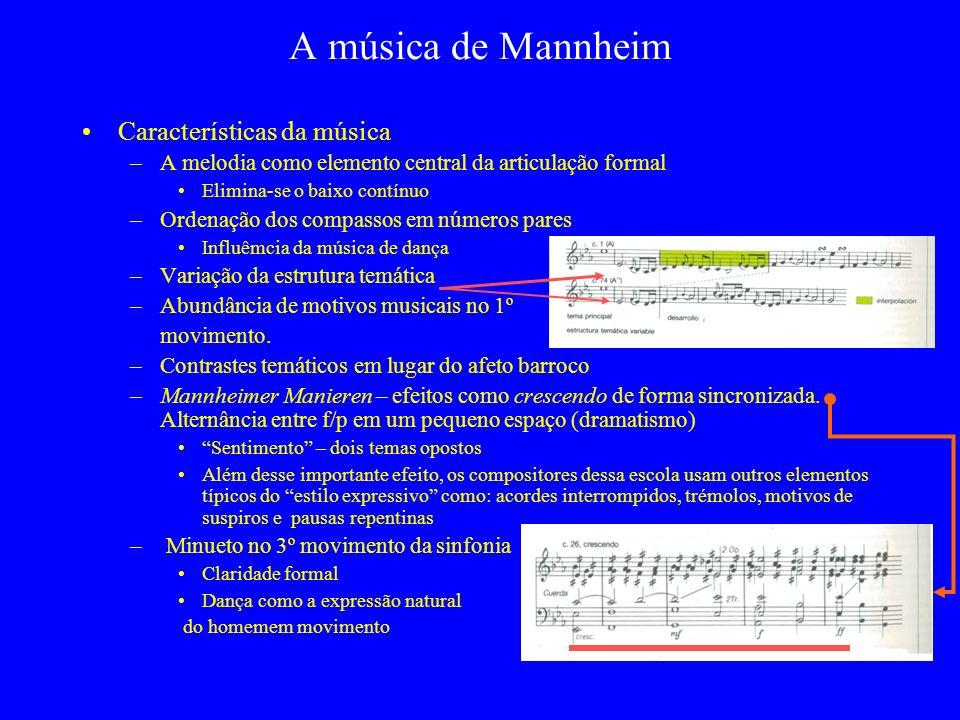 A música de Mannheim Características da música