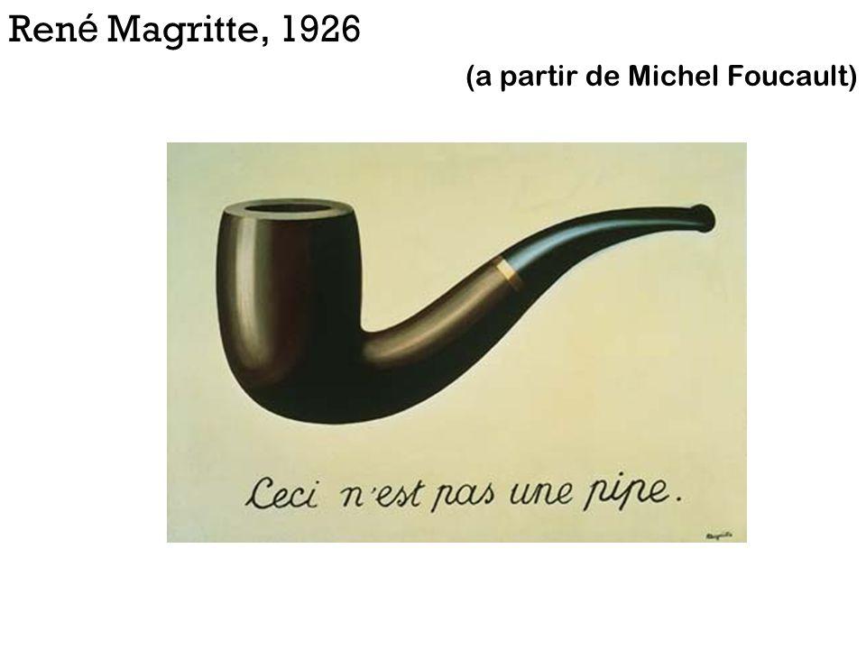 René Magritte, 1926 (a partir de Michel Foucault)