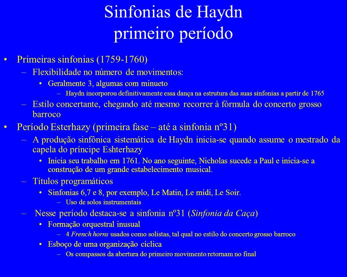 Sinfonias de Haydn primeiro período
