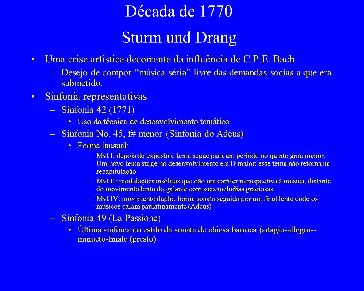 Década de 1770 Sturm und Drang