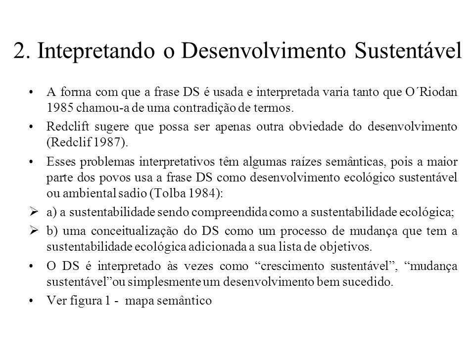 2. Intepretando o Desenvolvimento Sustentável