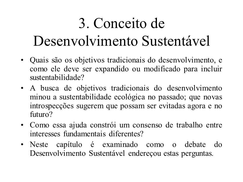 3. Conceito de Desenvolvimento Sustentável