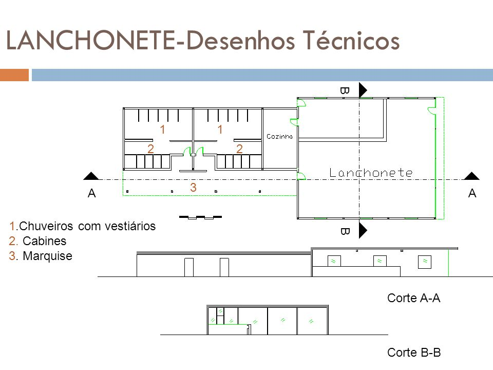 LANCHONETE-Desenhos Técnicos