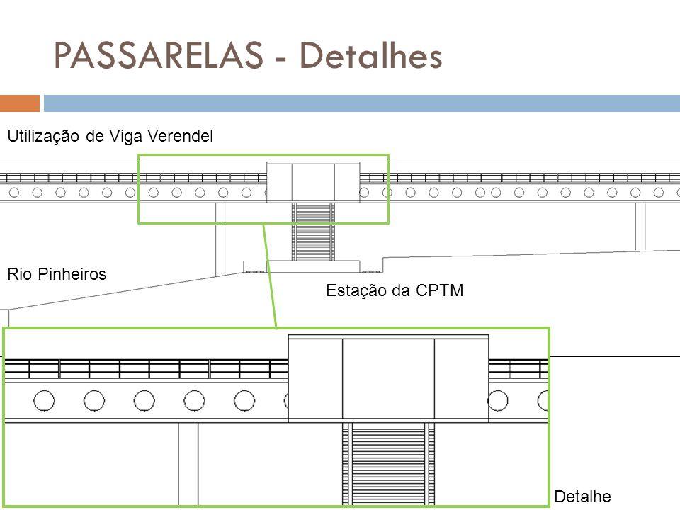 PASSARELAS - Detalhes Utilização de Viga Verendel Rio Pinheiros