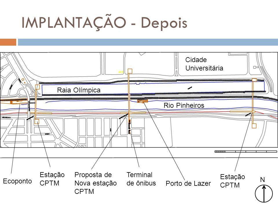 IMPLANTAÇÃO - Depois Cidade Universitária Raia Olímpica Rio Pinheiros