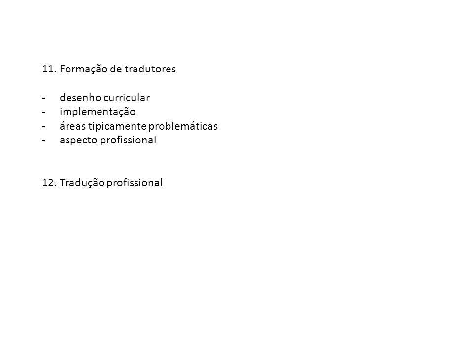 11. Formação de tradutores