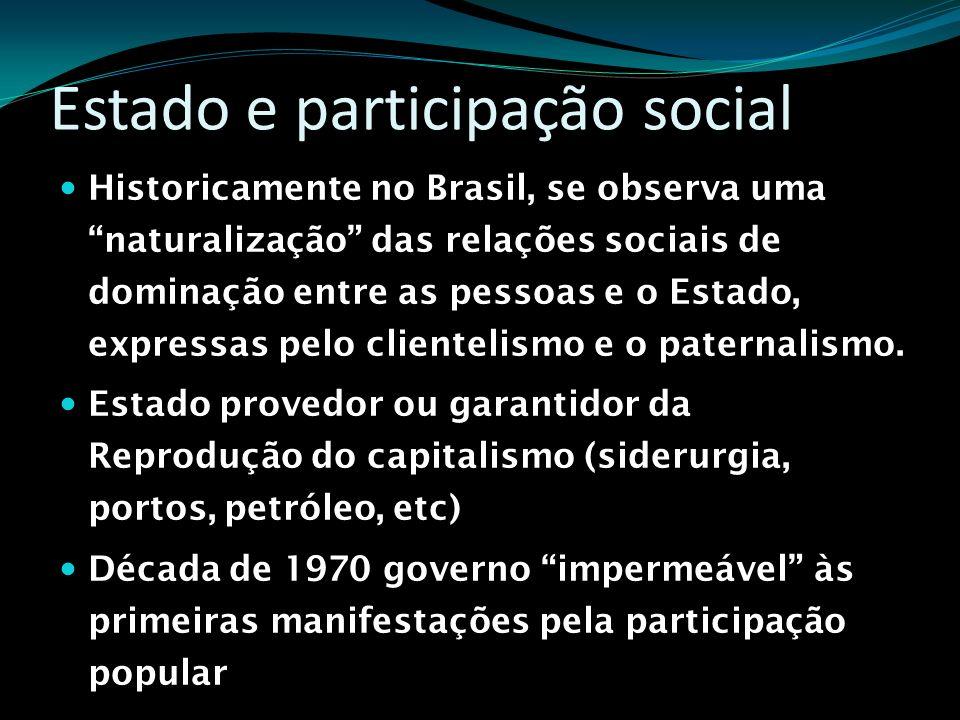 Estado e participação social