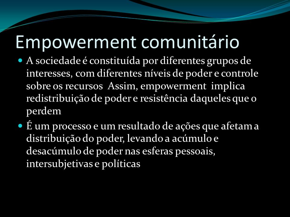 Empowerment comunitário