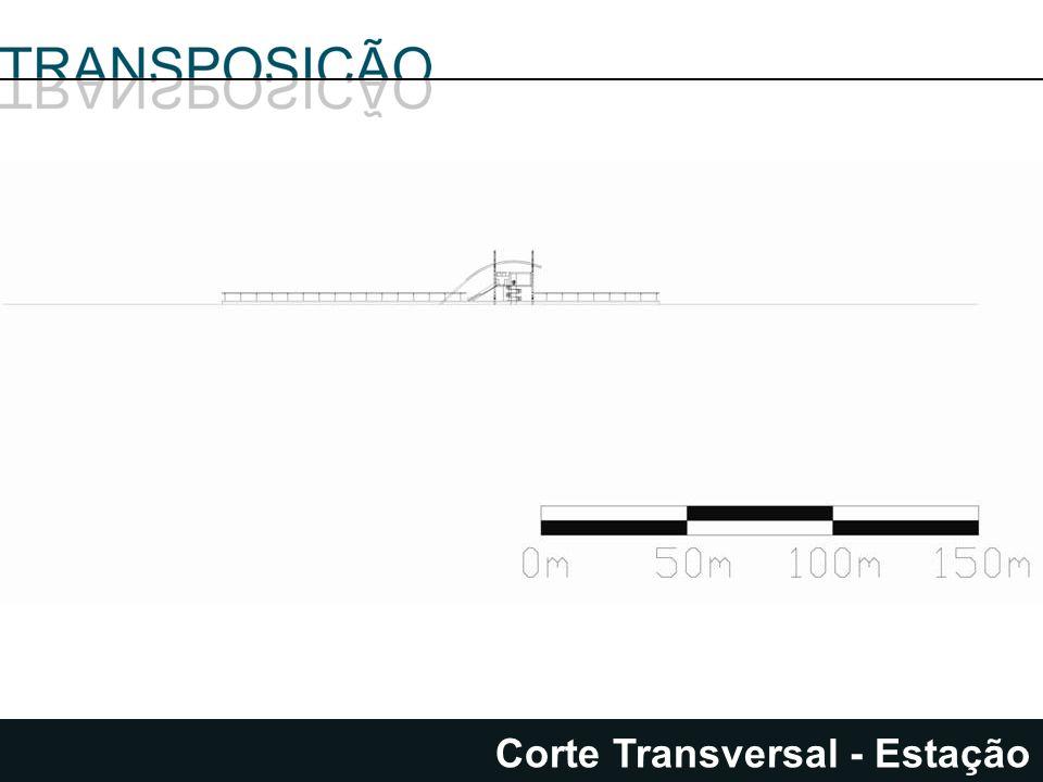 Corte Transversal - Estação