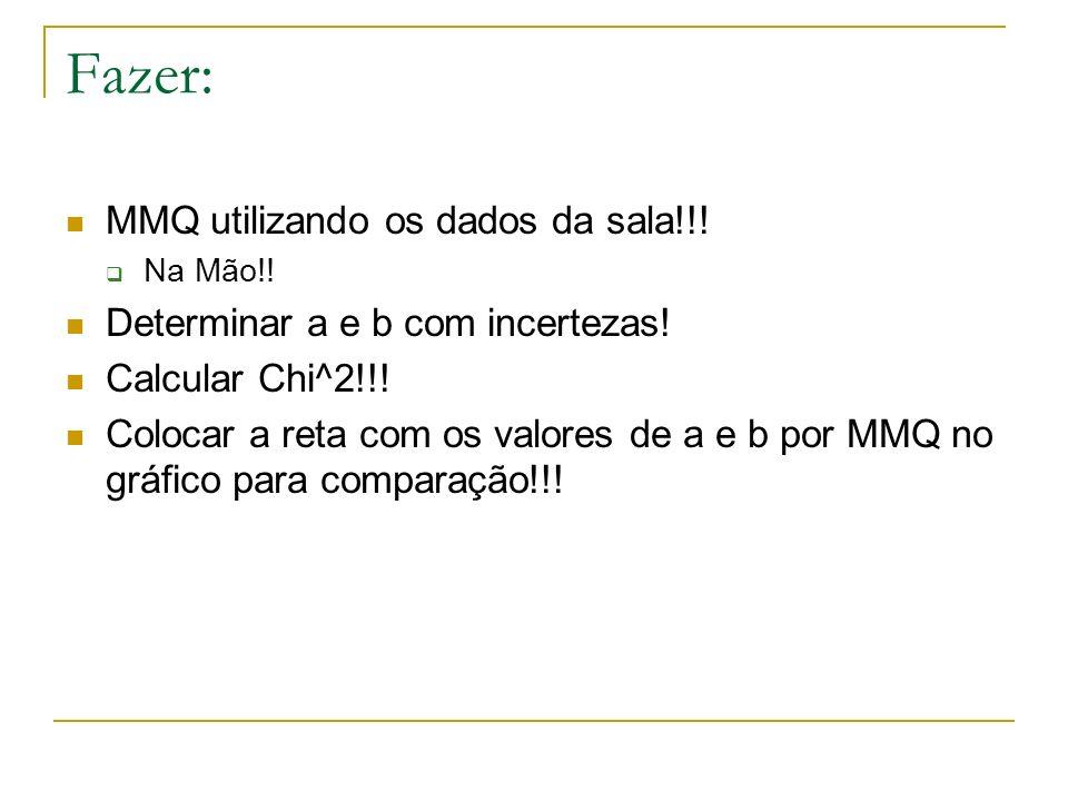 Fazer: MMQ utilizando os dados da sala!!!
