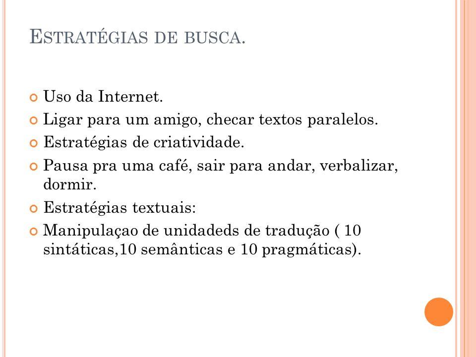 Estratégias de busca. Uso da Internet.