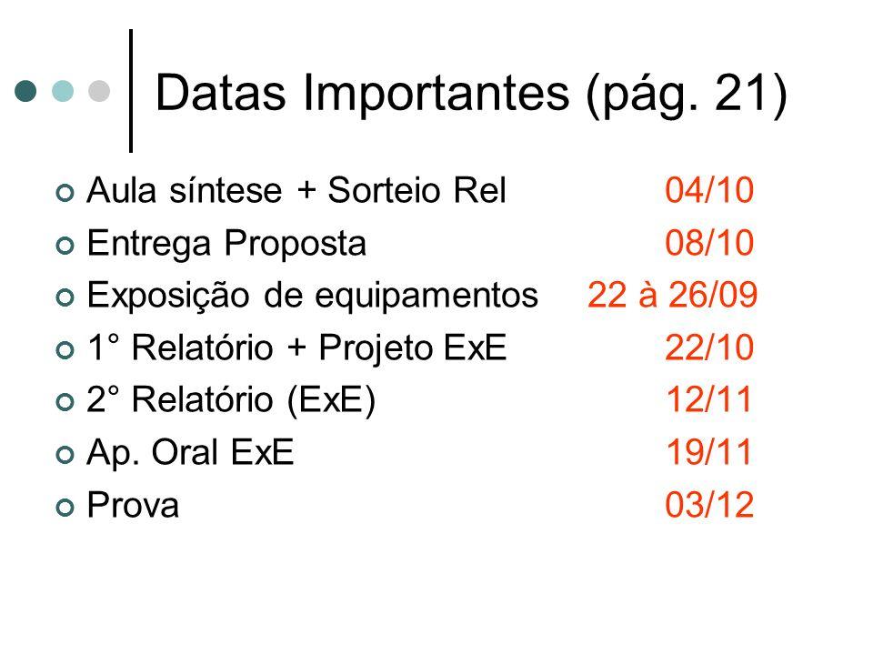 Datas Importantes (pág. 21)