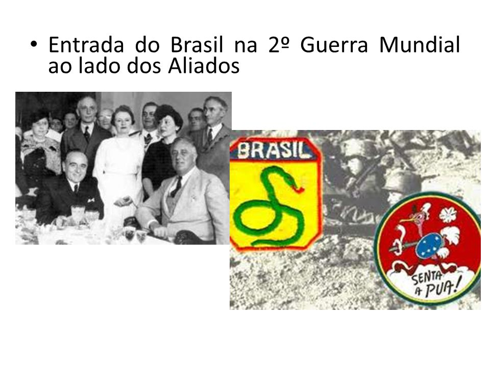 Entrada do Brasil na 2º Guerra Mundial ao lado dos Aliados