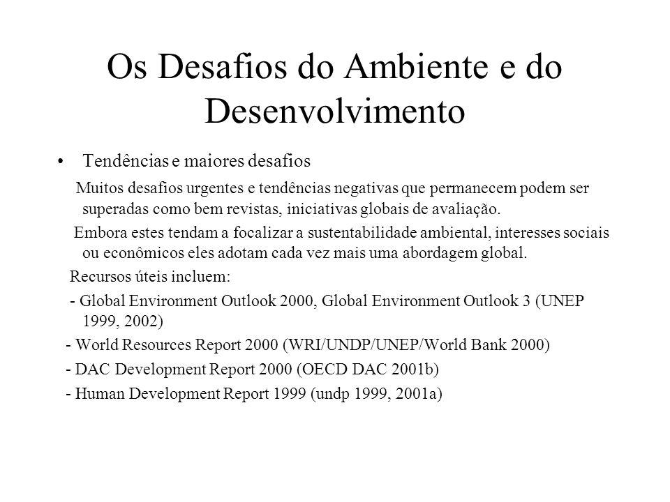 Os Desafios do Ambiente e do Desenvolvimento