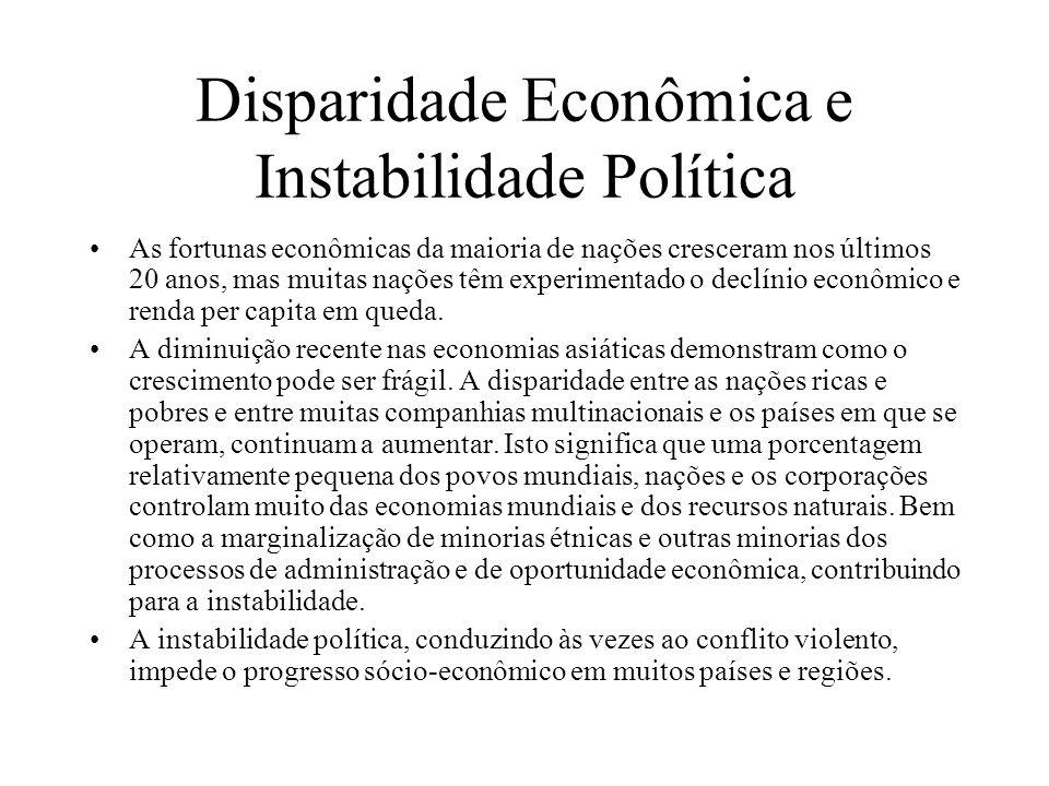 Disparidade Econômica e Instabilidade Política
