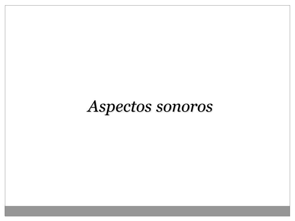 Aspectos sonoros 18
