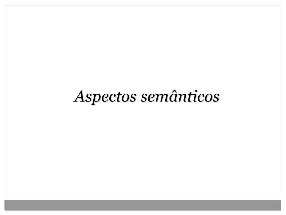 Aspectos semânticos 2