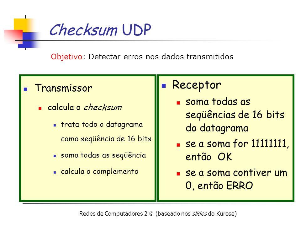 Checksum UDP Receptor Transmissor