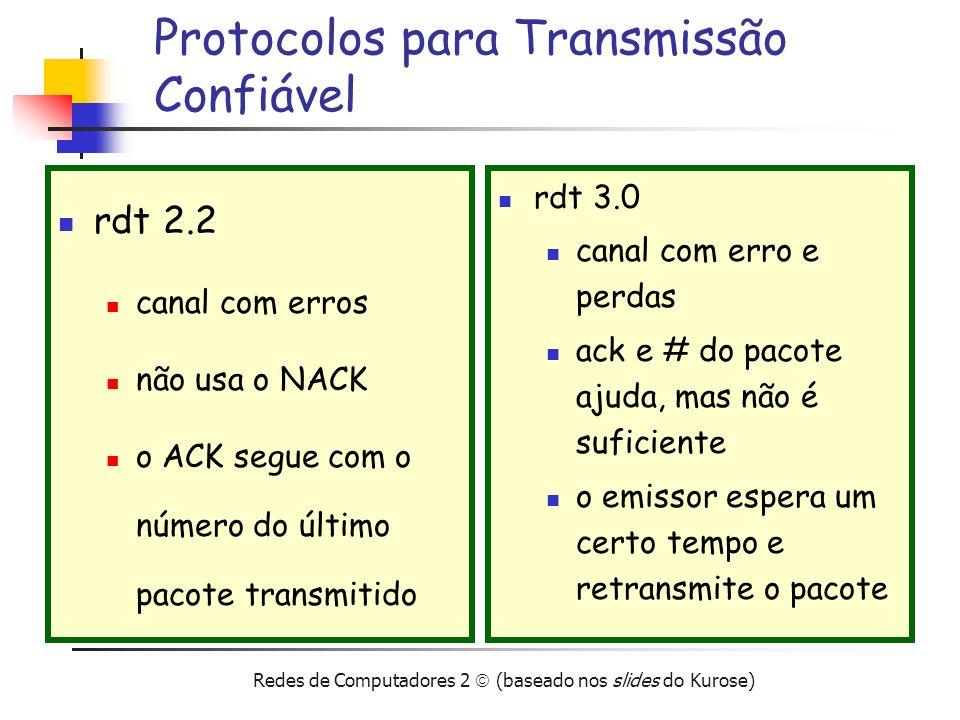 Protocolos para Transmissão Confiável