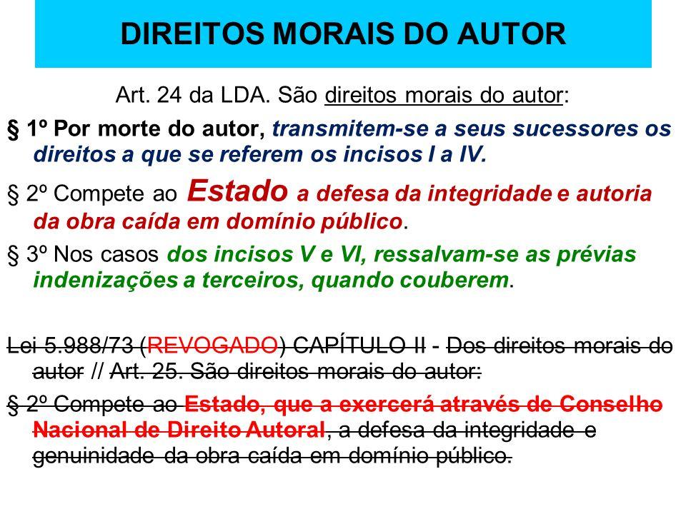 DIREITOS MORAIS DO AUTOR
