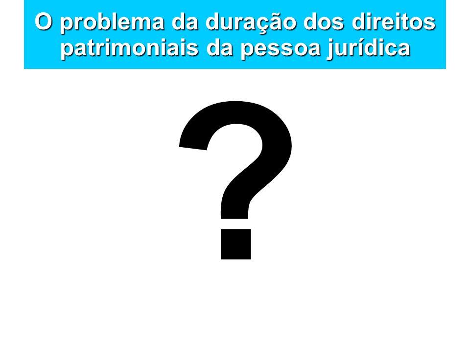 O problema da duração dos direitos patrimoniais da pessoa jurídica
