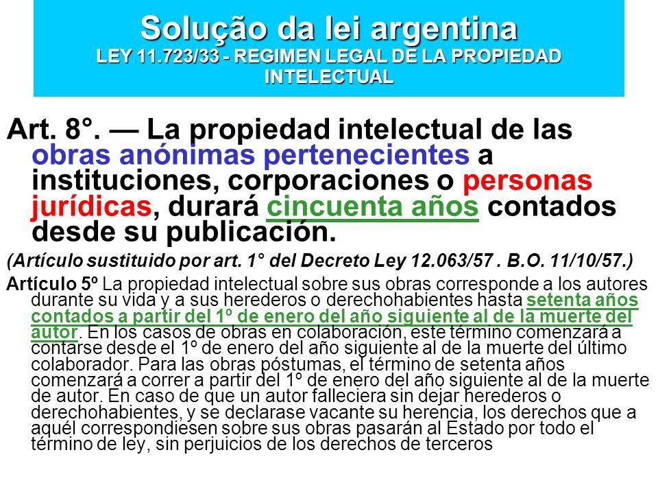 Solução da lei argentina LEY 11